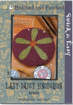 Lazy Daisy pincushion.