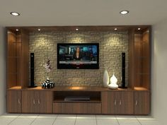 Amazing Wall TV Cabinet Designs 19220 units in living room tv stands Tv Unit Decor, Tv Wall Decor, Wall Tv, Room Decor, Tv Wall Mount, Modern Tv Cabinet, Modern Tv Wall Units, Wall Units For Tv, Tv Wand Design