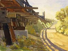 Under the Tracks by Greg LaRock Oil ~ 12 x 16