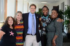 McNair Scholars staff: (L-R) Fran Stark, Sharyn Schelske, Anthony Albecker, Shade Osifuye, Tiffany Richardson. Photo by Patrick O'Leary