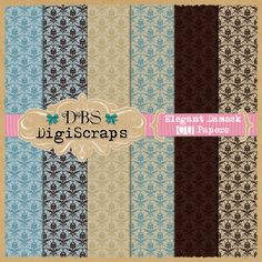 CU | Free Elegant Damask Papers by DBS DigiScrap