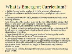 Emergent curriculum defined