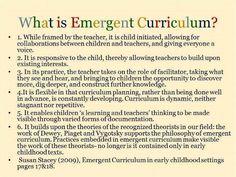 Emergent curriculum defined