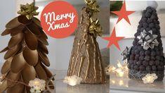 IDEAS NAVIDEÑAS PARA DECORAR  arboles navideños muy fáciles Ideas Navideñas, Merry, Recipes