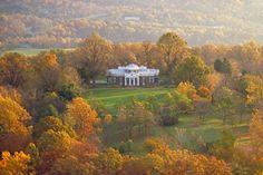 Thomas Jefferson's Monticello. In fall. Quintessentially Virginia. #fallinva
