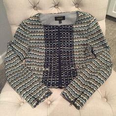 Greylin Blazer size Small Greylin blazer with navy embroidered embellishment. Fits great! Worn once. Greylin Jackets & Coats Blazers