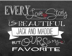 """Every Love Story"" Personalized Jada Venia Lightbox Insert   $14.99   BettesGifts.com"