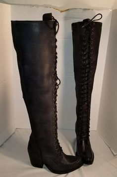 20f877e7c2d New free people x jeffrey campbell black leather james lace up boots us 9
