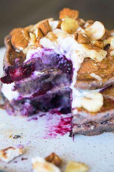 Blueberry Blender Pancakes   Jamie Oliver