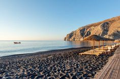 Kamari beach, Santorini island, Greece - selected by www.oiamansion.com