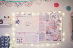 Focus board idea with goals and dream board for a motivational space JillyJilly: Getting Organised Part 3 - 6 Tips for an Organised Studio