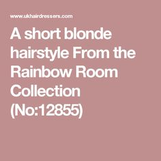 A short blonde hairstyle From the Rainbow Room Collection  (No:12855)