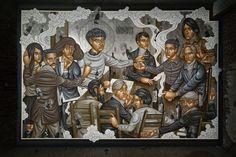 Stelios Faitakis, The deepness of things, 2016, detail, mural painting commission at Palais de Tokyo, Paris - CoSA   Contemporary Sacred Art