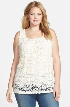 Lucky Brand Lace Tank (Plus Size) available at #Nordstrom