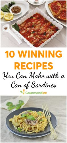 10 winning recipes you can make with a can of sardines Low on fatty acids? Try these 10 canned sardine recipes to get your fill. Sure they're sm How To Eat Sardines, Recipe With Sardines, Sardine Recipes Canned, Side Recipes, Dinner Recipes, Healthy Appetizers, Healthy Recipes, Lunches And Dinners, Meals