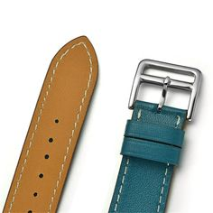 Apple Watch Band, Smarco Luxury Genuine Leather, Double Tour Bracelet Leather Replacement Wrist Watchband for Apple iWatch(Blue 38mm)