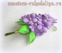 Мастер-класс по цветам из фоамирана: Букетик незабудок