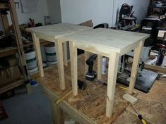 How To Build Plywood End Tables For $6 Dollars Each – Photo Step By Step