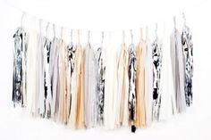 Extra Long Silver Sand Tassel Garland - DIY Garlands for 2014 Party