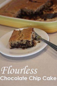 Flourless Chocolate Chip Cake