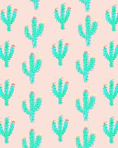 Cactus Print Art Print by Bouffants And Broken Hearts