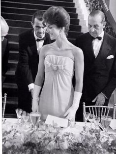 Old School - white gloves - black tie - jackie kennedy - gala - glamour - evening - event