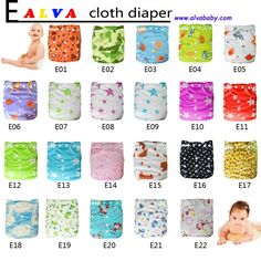 50 baby colorful reusable cloth diapers and 50 inserts $194
