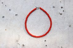 Bright Orange Beaded Choker - School Colors Collection Soft, bright orange 6mm beads strung on silver wire, finished off with a toggle clasp.  Show off your school spirit is this super cute, bright orange choker! This is the perfect accessory for any school sporting event!  In addition, each choker can be worn as a double wrap bracelet.*  Available in nine sizes: 12, 12.5, 13, 13.5, 14, 14.5, 15, 15.5 & 16. PLEASE CONTACT ME if you have questions about sizing or would like to request a…