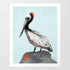 Pelican Art Print by Eine Kleine Design Studio - $15.00