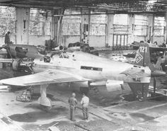 The Americans in the shop for the Assembly of the Dornier Do-335 after the war.