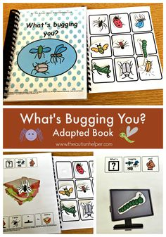 "So glad to share my FAVORITE adapted book. ""What's Bugging You?"" targets repetitive language, vocabulary & initial consonants - your students will be engaged & you'll have fun with it too! From theautismhelper.com"
