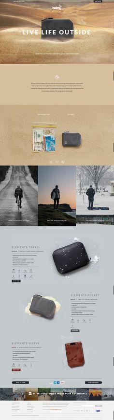 Unique Web Design, Bellroy #WebDesign #Design (http://www.pinterest.com/aldenchong/)