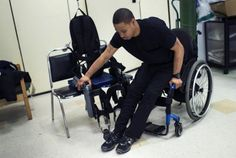 A Man with SCI Moves from His Wheelchair Into the ReWalk Device