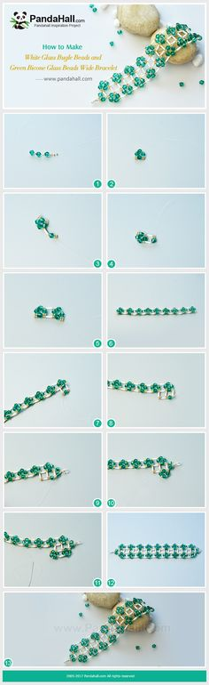 PandaHall Inspiration Project----White Glass Bugle Beads and Green Bicone Glass Beads Wide Bracelet The main materials of the bracelet are white glass bugle beads, green bicone glass beads and golden seed beads. PandaHall Beads APP is on, download here>>>goo.gl/jLxpjp 2018 New Year Sale: UP TO 75% OFF,FREE SHIPPING over $349 from Jan 2-23, Free Coupons: PHENPIN5 (Save $5 for $70+) PHENPIN7(Save $7 for $100+) #PandaHall #diybracelet #jewelrymaking #buglebeads #glassbeads #stitch #greenbeads