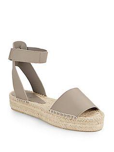 Edie Leather Espadrille Sandals