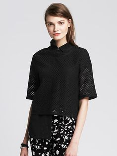 Check out my Editor picks using the #MavatarApp featuring #BananaRepublic Shown here: Eyelet Cropped Top
