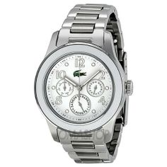 Lacoste Advantage Multfunction Dial Stainless Steel Ladies Watch 2000718 Lacoste. $164.59. Water Resistance : 5 ATM / 50 meters / 165 feet. luminous. Water Resistant up to 100 m. second-hand. Analog Display. Save 44% Off!