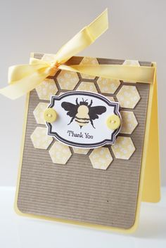 Erin: Moxie Fab Challenge | Hooked on Hexagons Bee Cards, Ink Stamps, Card Patterns, Stampin Up Cards, Your Cards, I Card, Making Ideas, Thank You Cards, Cardmaking