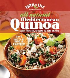 Path of Life All Natural Mediterranean Quinoa with spinach, tomato & feta cheese---Just tried today, LOVED this!