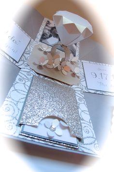 Wedding, Diamond Ring, Custom Invitation, Exploding Box, Bridal Box www.facebook.com/InspireME.ACraftersStudio