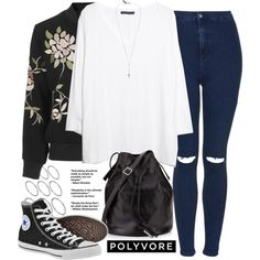 Unbenannt #642 by piasfashion on Polyvore featuring Mode, MANGO, Topshop, Converse, Halston Heritage and ASOS