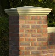 Capping Stones are standard architectural Cast Stone elements. Custom Cappings for straight flat, curved, ramped, serpentine and stepped Walls available.