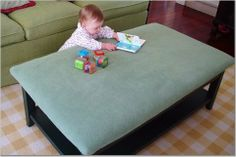 WISH I would have thought of this for when Molly was learning to walk and teething. My poor table is ruined now and Molly had tons of bonks.