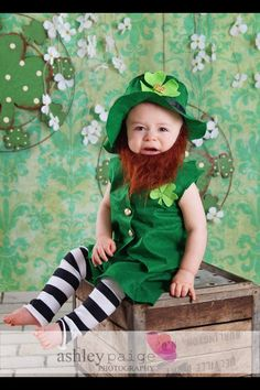 St Patricks Leprechaun Baby Toddler Outfit by MYSWEETCHICKAPEA, $68.00