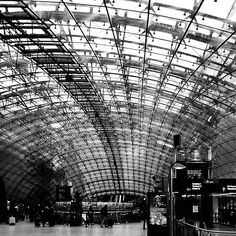 Beautiful photo of the Frankfurt Airport.Who traveling today? : @middleofthestreets  Heading to Amsterdam today #worldbnw_arches #bnw_captures #bmw_architecture #frankfurt #frankfurtammain #frankfurtairport #airport  #travel #businesstrip #businesstravellife #architecture #blackandwhite #bnw #hotelliving#jetsetter #roadwarrior #ontheroad #igtravel #travel #globetrotter #globaltravel #wearetravelers #travelblog #travelblogger  #traveltips #mytravelgram #travelingram by businesstravellife
