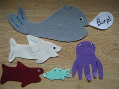 Love the five little fishes rhyme...would work great for an ocean-themed storytime.