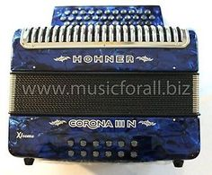 NEW Hohner Corona Xtreme IIIN 5 Switch Accordion with Gig Bag, Straps and DVD - Key GCF/SOL, Blue/Azul - Free Ship to USA - Cheap Worldwide Shipping! http://stores.ebay.com/music-for-all-03   http://www.musicforall.biz/