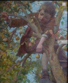 ''Travessura''Retrata um garoto trepando em uma árvore carregada de frutos, no qual podemos apreciar a sensibilidade com que o autor registra esse momento de todo menino.