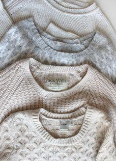 Cozy, cozy sweaters. #knits