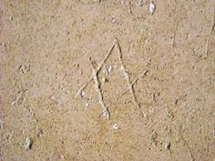 David's star? - Graffito in the kitchen of the villa San Marco at Stabiae (=Castellammare di Stabia/Naples) - beginning augustan age/claudian age - buried by Vesuvian eruption 79 AD - Plan: number 26